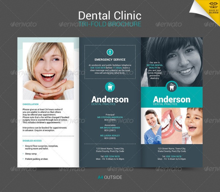 Dentist Brochure Promotion Tips To Help Boost Your Marketing - Dental brochure template
